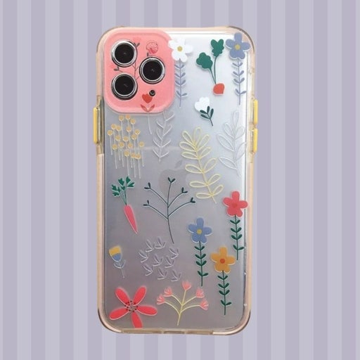 Iphone 12 Pro Max case Floral Clear