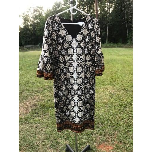 London Times Size 6 Brown Dress