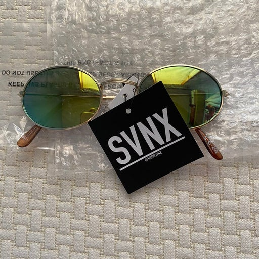 SVNX women's oval sunglasses, Blue