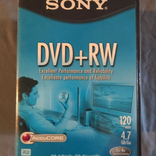 SONY DVD + RW 9 PACK W/ VIDEO CASES.