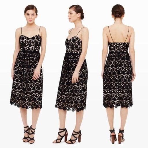 Club Monaco black Bolari lace dress