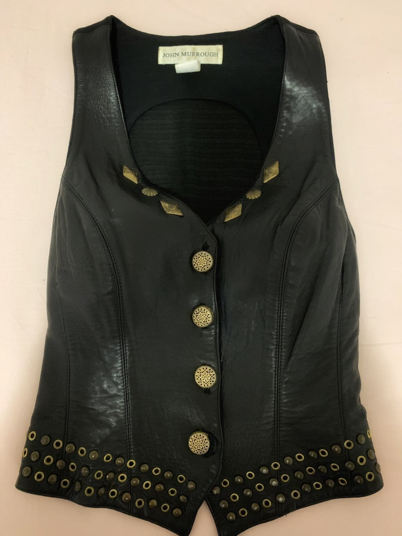 Womens dressy leather vest