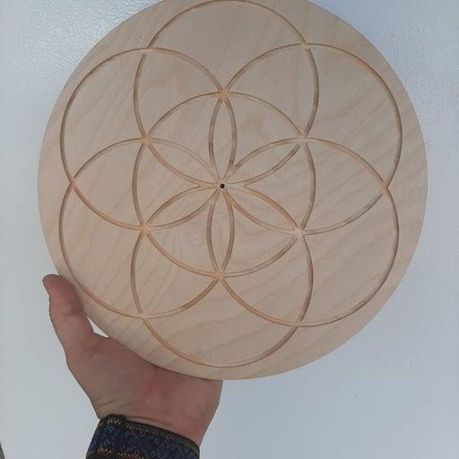 """10"""" seed of life handmade crystal grid"""