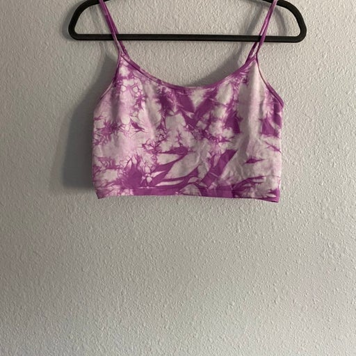 Forever 21 Purple Tie Dye Cropped Cami