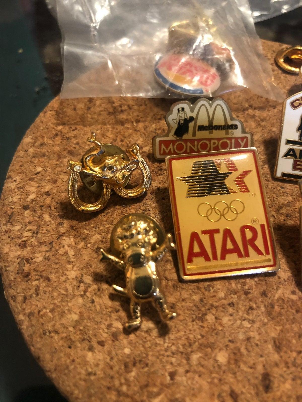 Atari McDonald's Baby Bop Monopoly Pins