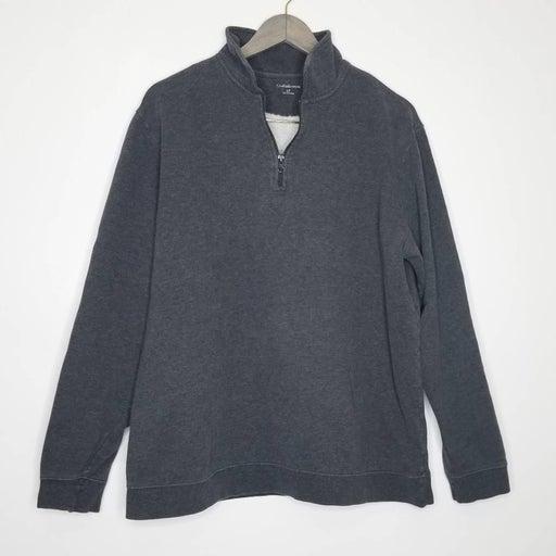 Croft & Barrow Pullover Zipper Sweater Gray LT