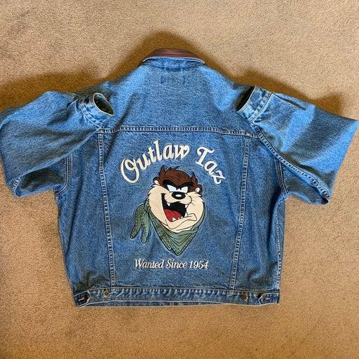 Vintage Outlaw Taz denim jacket XL