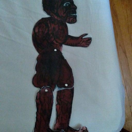 Karagozi puppet gorilla made in greece