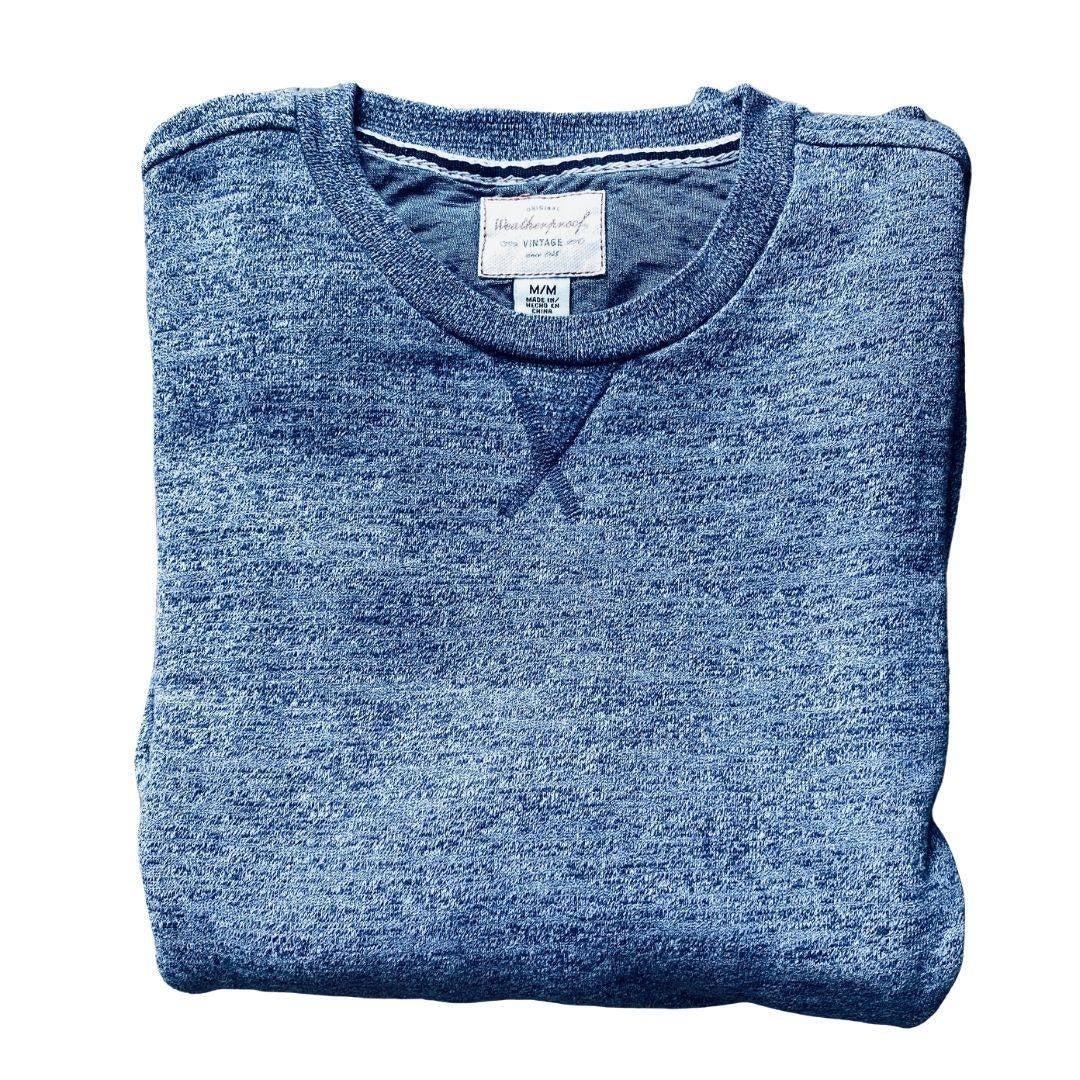 Weatherproof Gray & Navy Sweatshirt Sz M