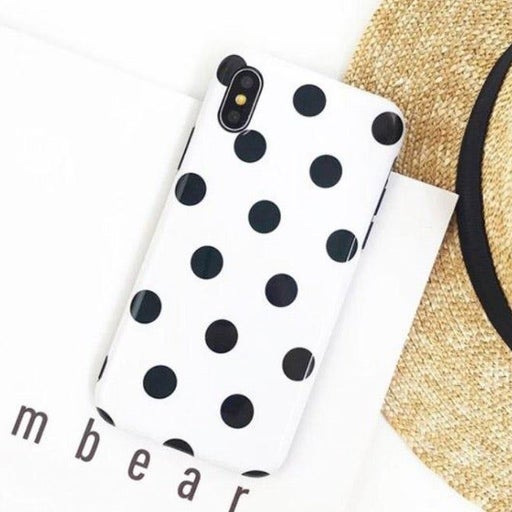 NEW iPhone X White Polka Dot Case