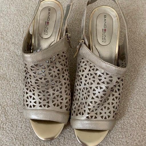 Bandolino Gold Sandal Heel
