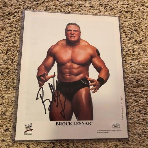 Wwe Brock Lesnar Autographed 8x10 Photo