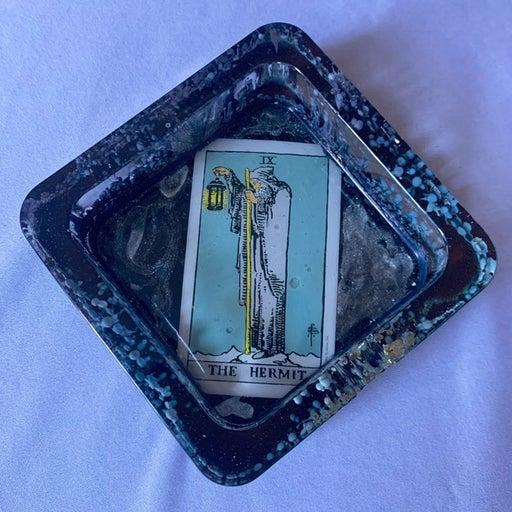 The hermit tarot card ashtray