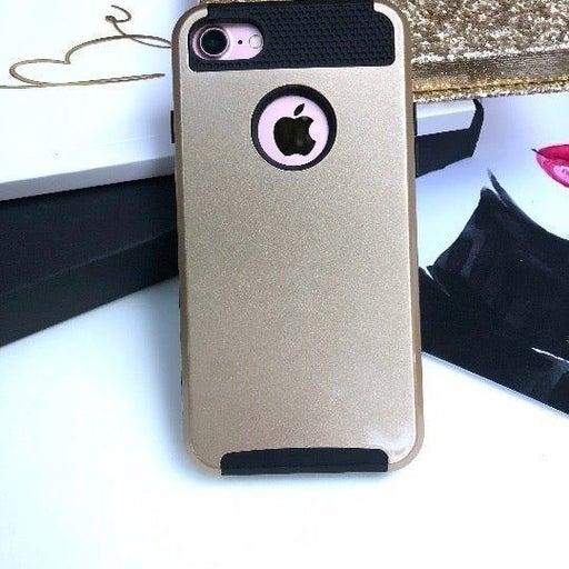 NEW iPhone 7/8 Gold Hybrid Bumper Case
