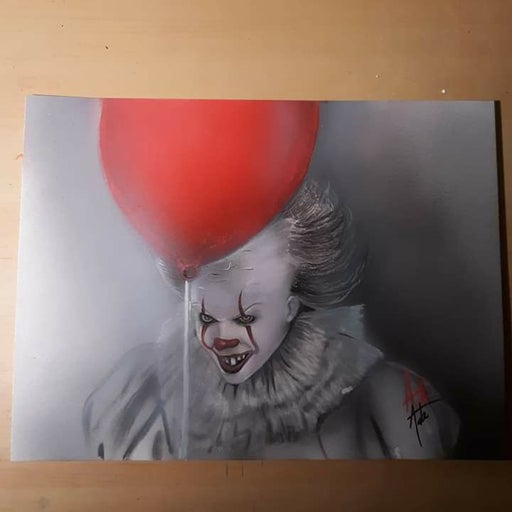 Signed Pennywise  Drawing