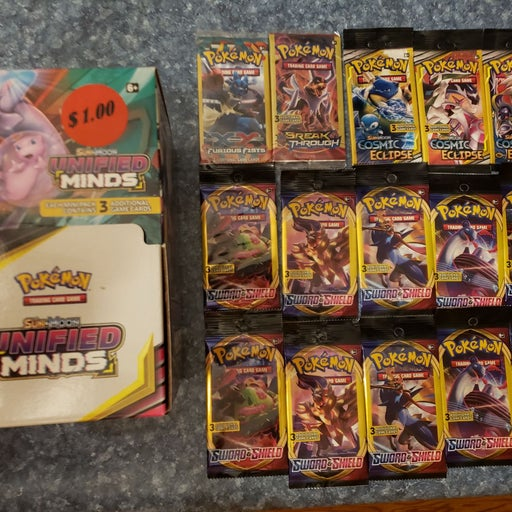 Pokemon Booster Pack Lot Unified Minds