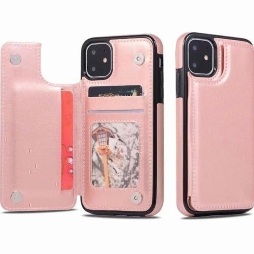 New iPhone 12 PRO MAX Pink Wallet Case