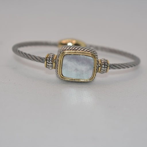 CABLE ROPE BRACELET MOTHER OF PEARL