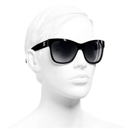 Chanel CC Black 5182 57mm Sunglasses