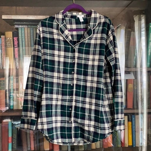 Green plaid Flannel Forever 21