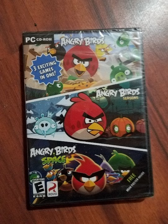 angry birds 3 pack games pc new sealed