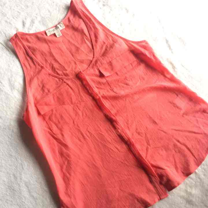 Anthropologie Moon River Coral Tank