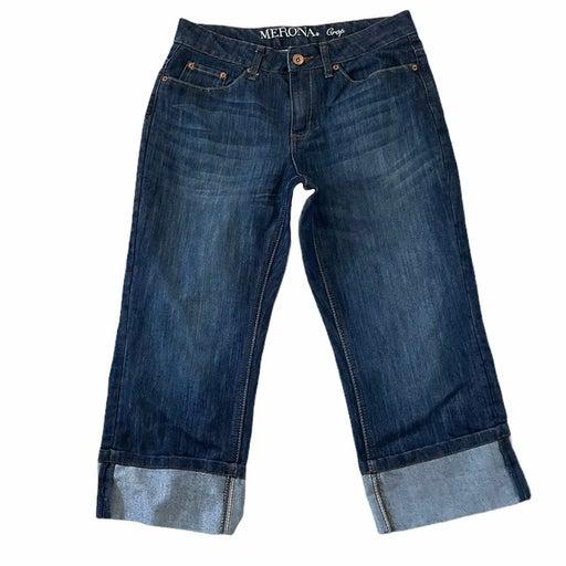 Women's / Juniors size 8 R Merona Crop Dark washed Jeans / Capris