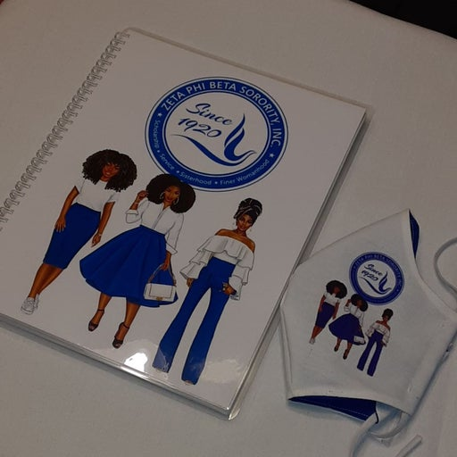 60 page lined notebook w/ matching mask