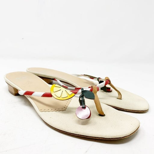 Moschino fruit sandals size 39