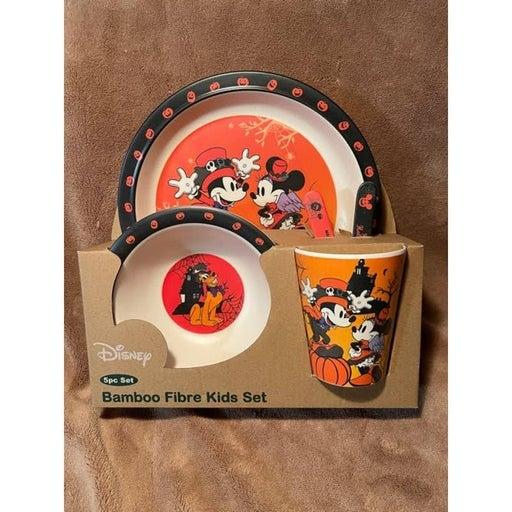 Disney, Mickey, Minnie, & the gang Halloween Kids Bamboo 5pc Dinnerware