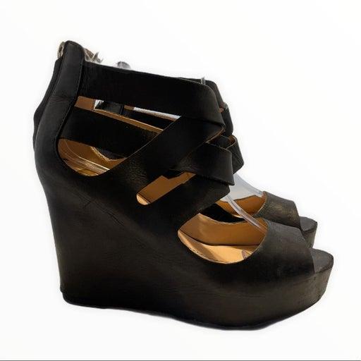 Dolce Vita Jude Wedge Black Leather Upper Open Toe