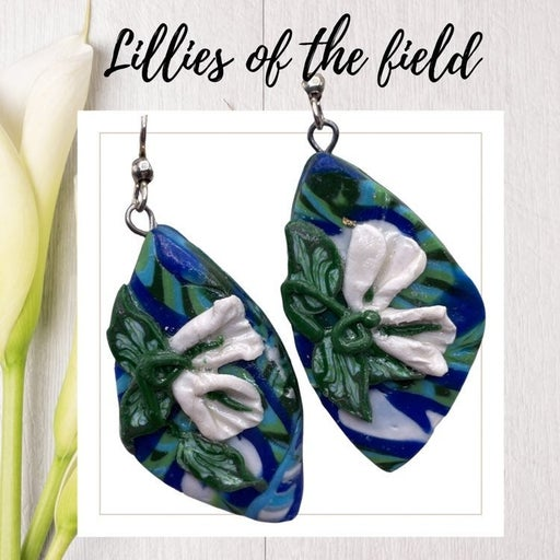 LILLIES Polymer Clay Earrings By BLOOMS