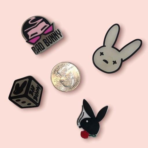 CROCS charms jibbitz buttons bad bunny rapper