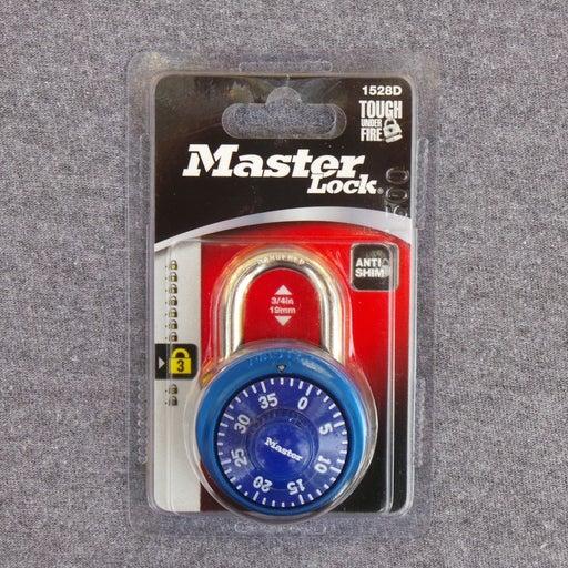 "Master Lock 1-7/8"" Blue Combination Lock"