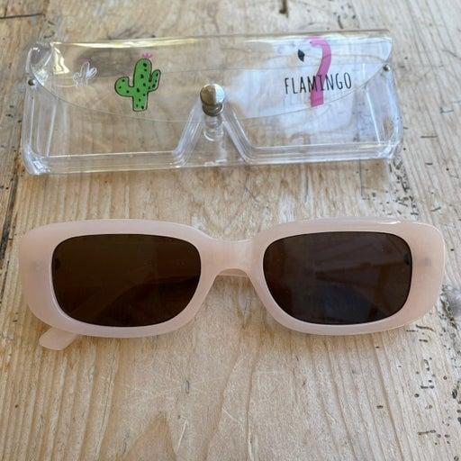 Retro Light pink sunglasses