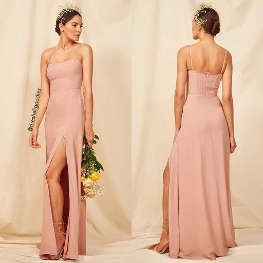 REFORMATION Ingrid Dress Pink Maxi Wedding