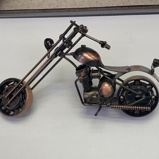 Bike made with spare parts