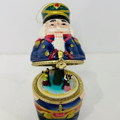 Mr Christmas Porcelain Nutcracker Soldier Hinged Music Box