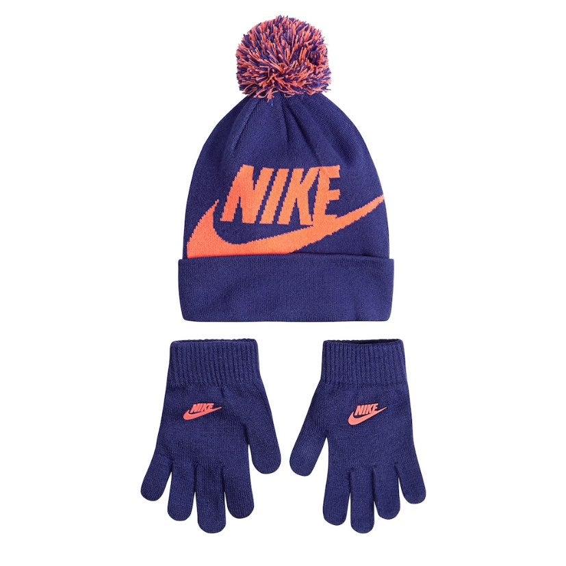 NEW Nike Big Kids Beanie hat and gloves
