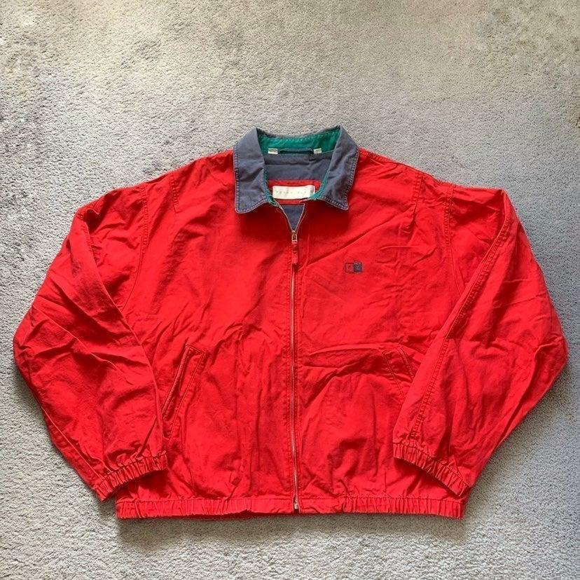 Vintage Perry Ellis Red Denim Jacket XL
