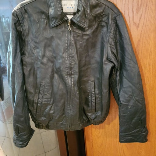 Men's leather jacket sz med