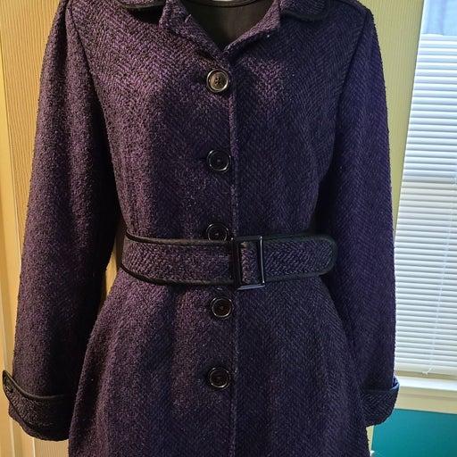 Candie's Coat - Purple & Black