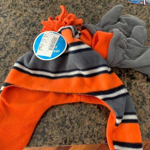 Toddler Boy Fleece Hat Mittens Childrens