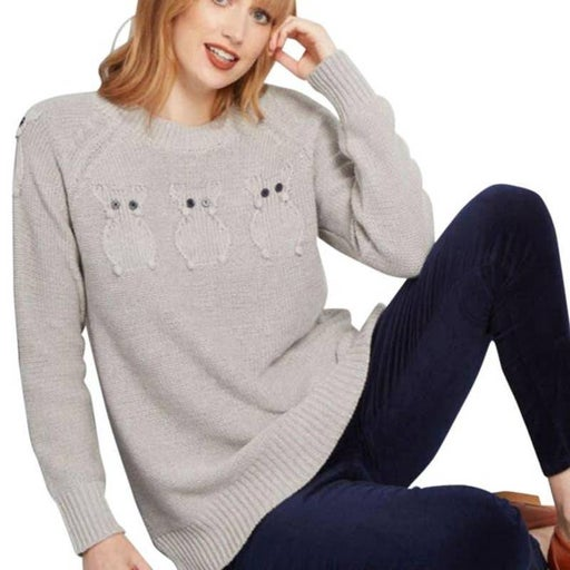 ModCloth Critter Credibility Mouse Knit Sweater Black Bead Eyes Size Small