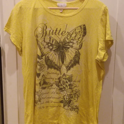 Yellow butterfly top 3x
