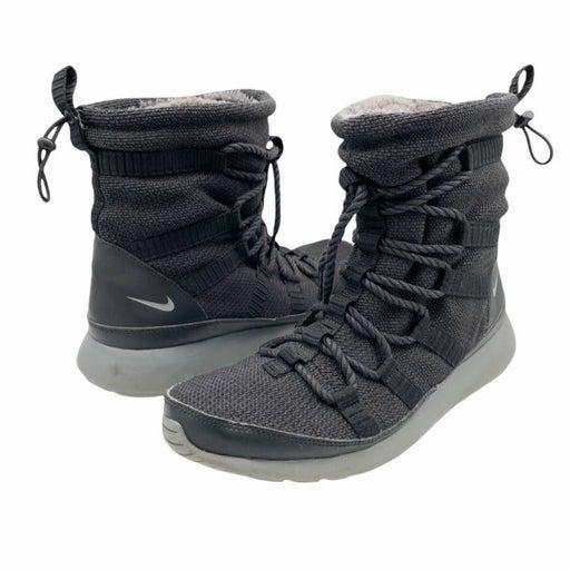 Nike Black Roshe One High Sneaker Boots Women's Size 11 Faux Fur Lining 807424-0