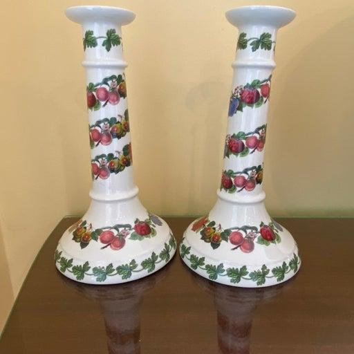 Portmeirion Pomona Tall Candlestick Set