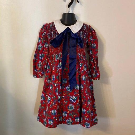Vintage Floral Peter Pan Collar Dress