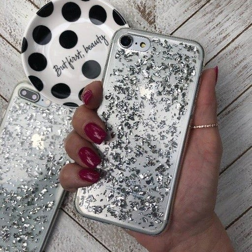 NEW iPhone 7/8 Silver Glitter Bling Case