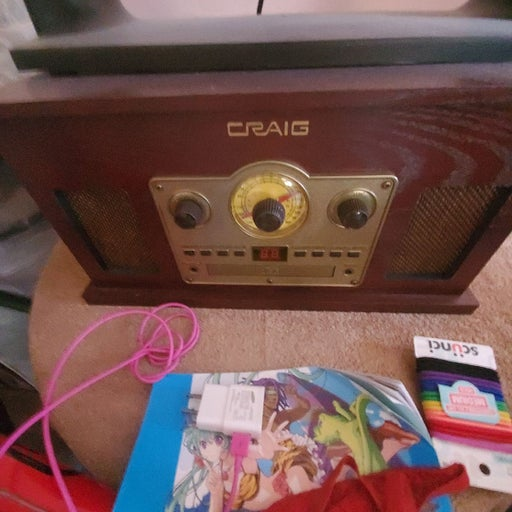 Record Player Also Has CD Radio And Tape